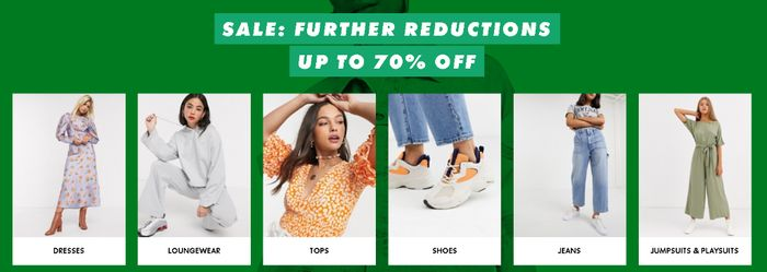 Sale at ASOS with Further Reductions and up to 70% Off