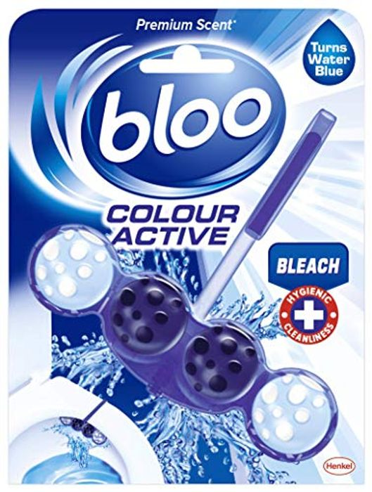 Bloo Colour Active Toilet Rim Block Bleach with Anti-Limescale, Cleaning Foam