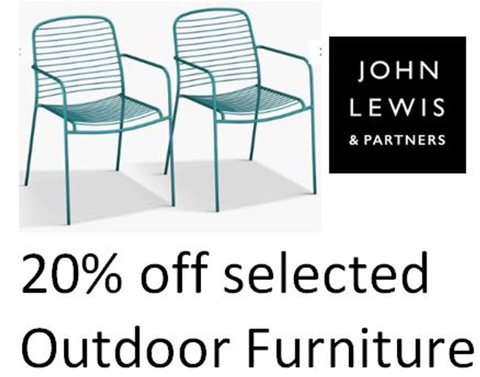 20% off Selected Outdoor Furniture at John Lewis + FREE DELIVERY