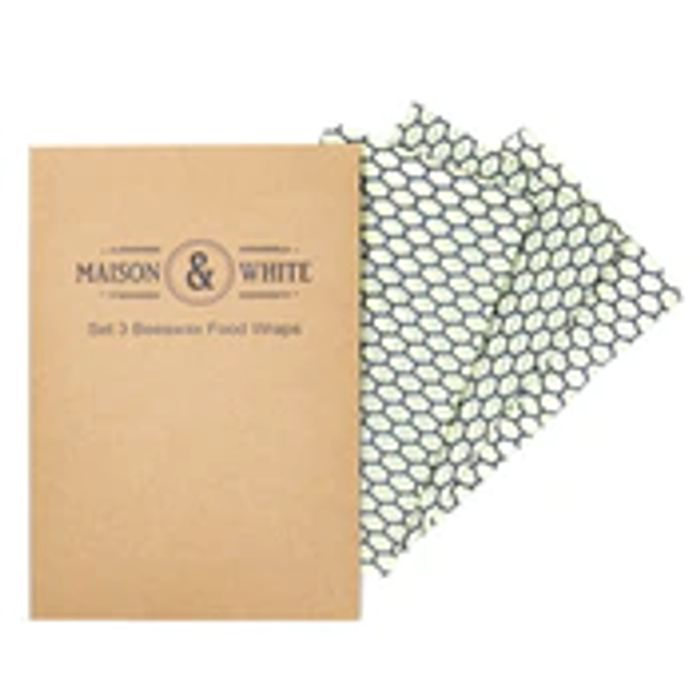 Set of 3 Reusable Beeswax Food Wraps Only £7.99