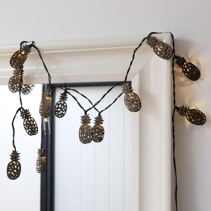 Bronze Pineapple LED String Lights Only £2