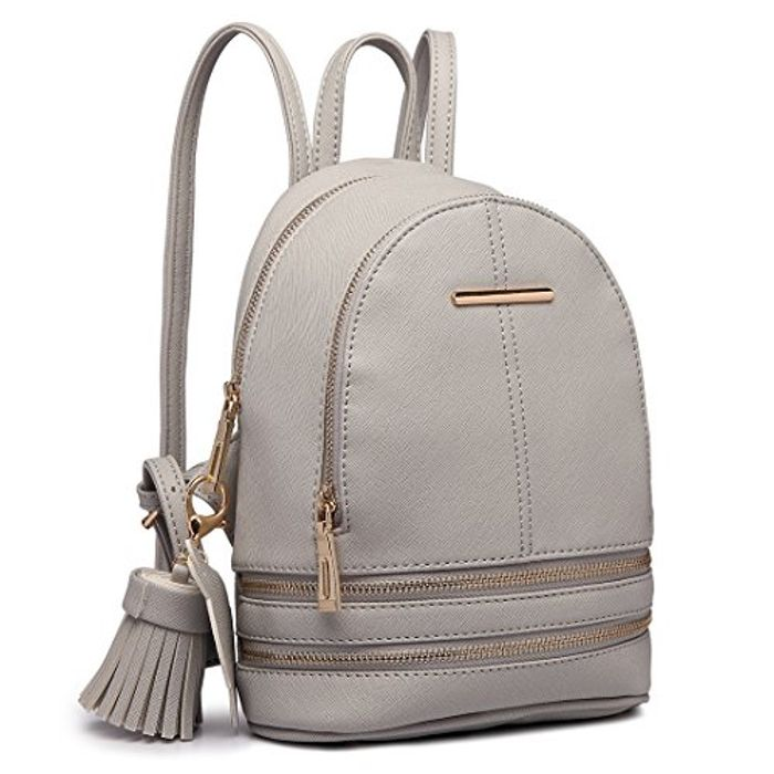 Backpack Casual Small Saffiano PU Leather Waterproof Rucksack Shoulder Bags