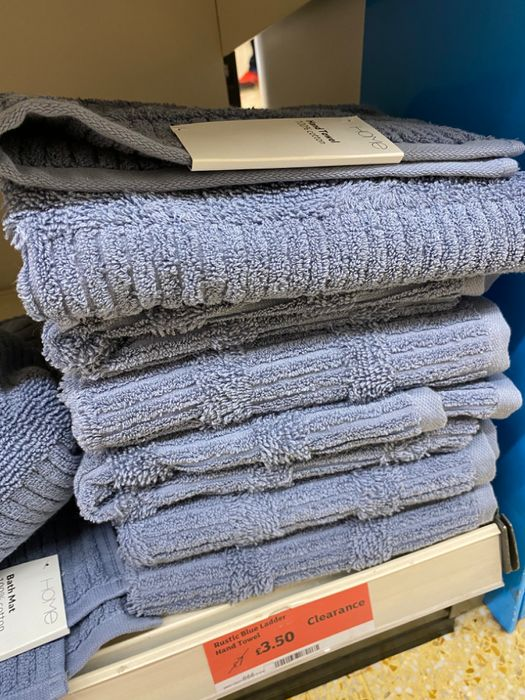 Rustic Blue Hand Towel - Half Price