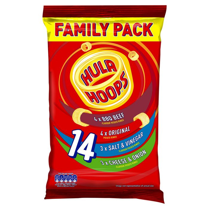 Hula Hoops Family Variety Pack 14 X 24g