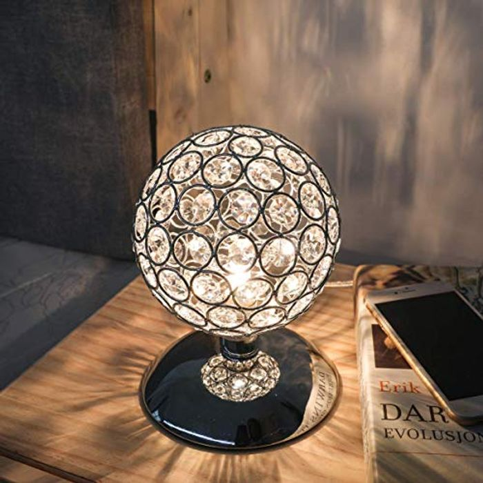 Cheap KINGSO K5 Silver Crystal Table Lamp Night Light Ball - Only £19.99!