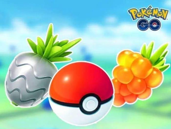 Free Pokemon Go: In-Game Items: 8x Poke Balls, 4x Silver Pinap Berries, & More