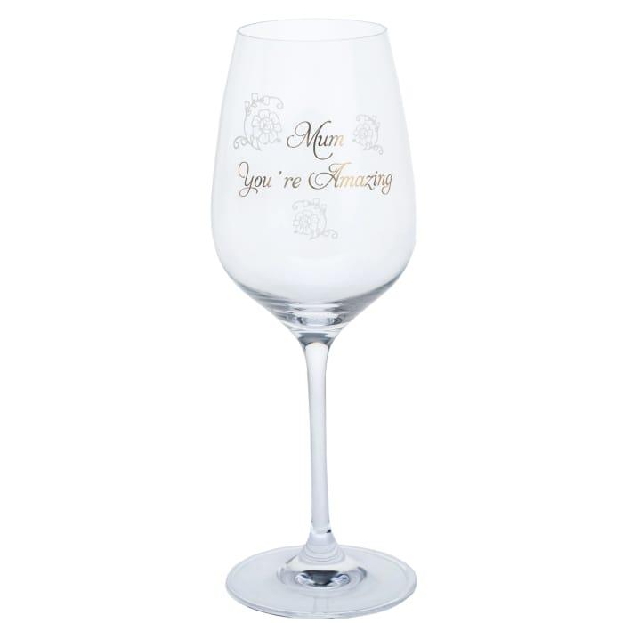 John Lewis & Partners 'Mum You're Amazing' Wine Glass