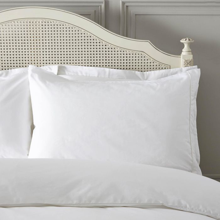Dorma 300 Thread Count 100% Cotton Percale Plain White Housewife Pillowcase