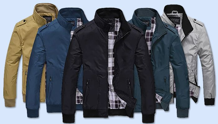 Men's Harrington Jacket - 5 Colours & 6 Sizes