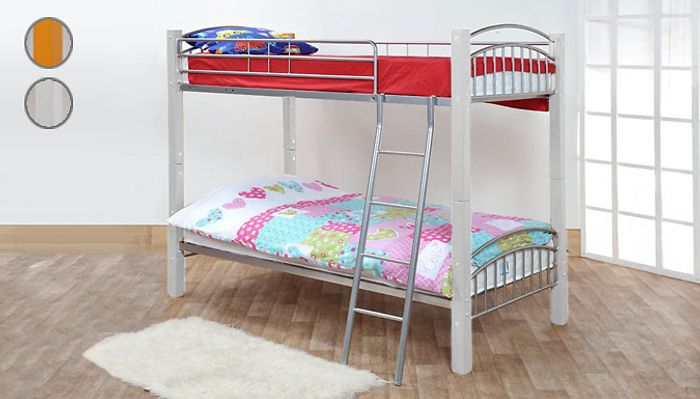 CHEAP! 'Barcelona' Bunk Bed Frame-2 Colours (£29.99 Delivery Charge per Voucher)