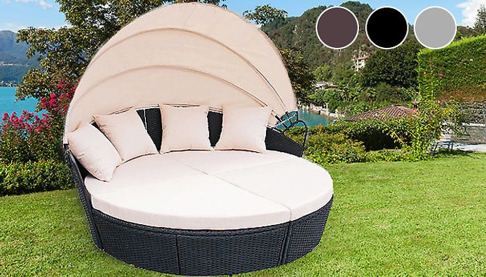 Bali-Inspired Rattan Day Bed - 3 Colours - Perfect for Relaxing in the Garden!