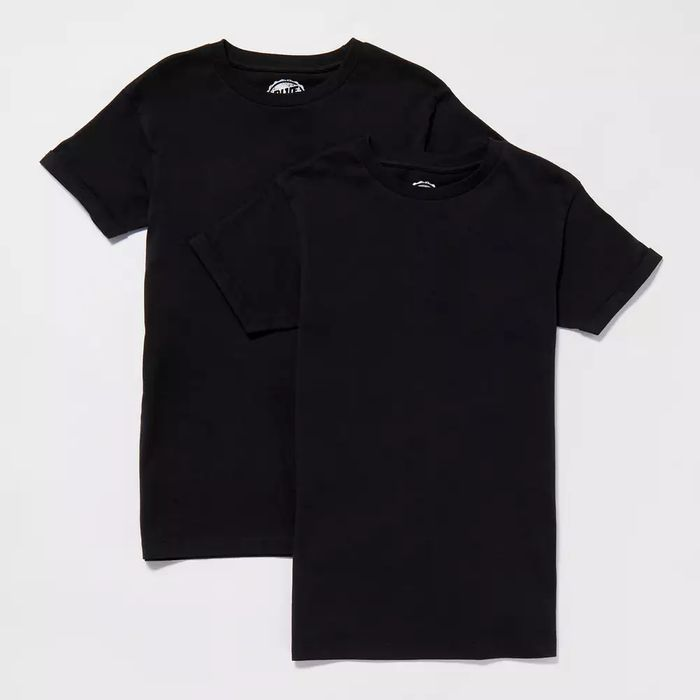Bluezoo - Boys' 2 Pack Black Plain Cotton T-Shirts