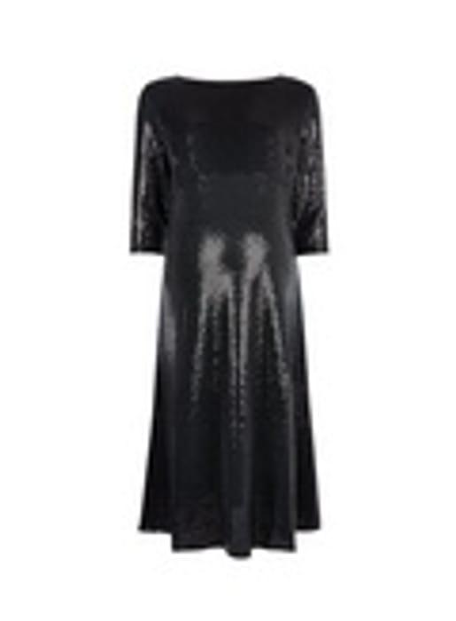DP Maternity Black Sequin Midi Dress - Only £5!