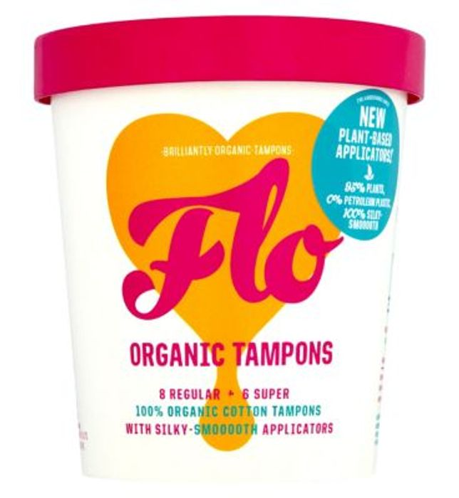 CHEAP! Flo Organic Eco-Applicator Tampons Regular & Super 14 Pack