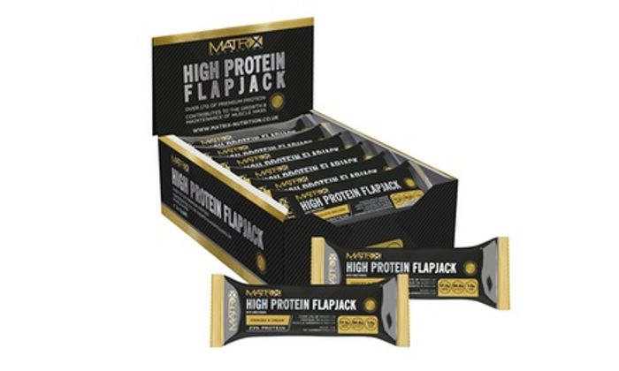 Matrix 24-Packs of High-Protein Flapjacks - Only £17.99!