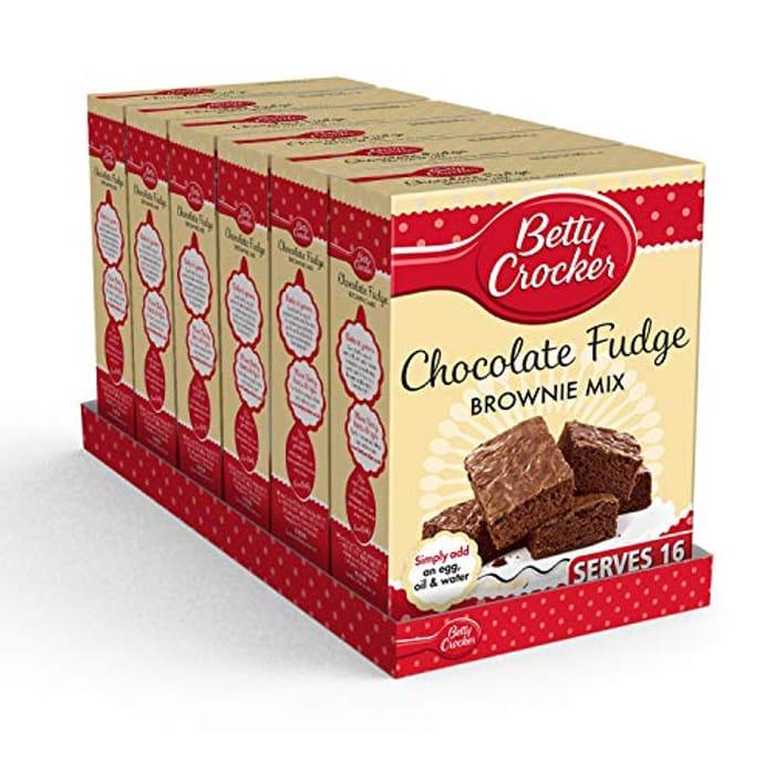 CHEAP! Betty Crocker Chocolate Fudge Brownie Cake Mix 415g (Pack of 6)