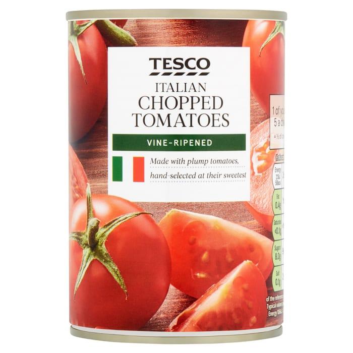 3 x Tesco Italian Chopped Tomatoes 400G