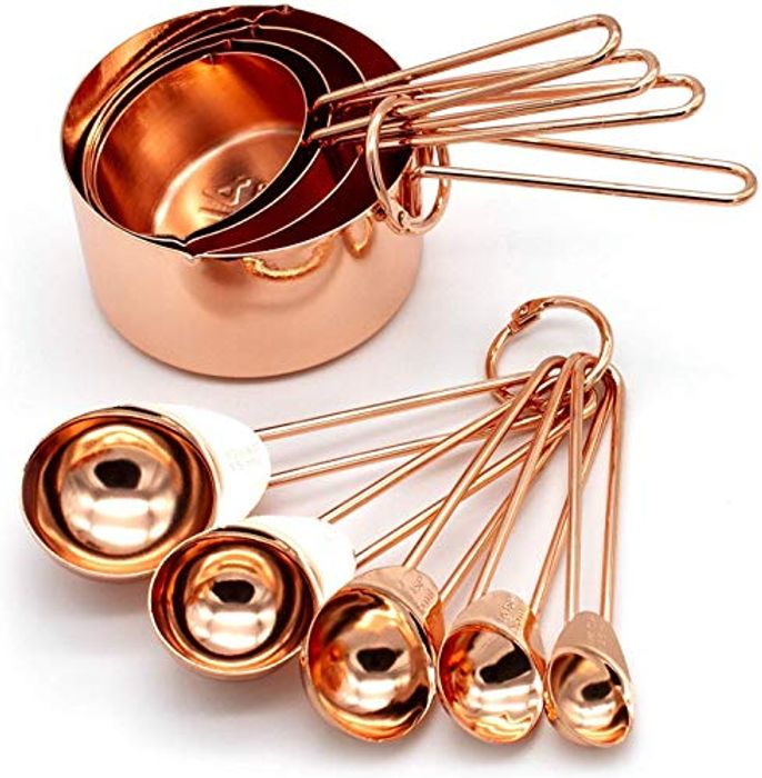 Copper Stainless Steel Measuring Cups and Spoons
