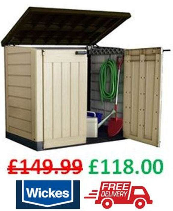 CHEAP! SAVE £32 at Wickes - Keter Store-It-Out MAX + FREE DELIVERY!