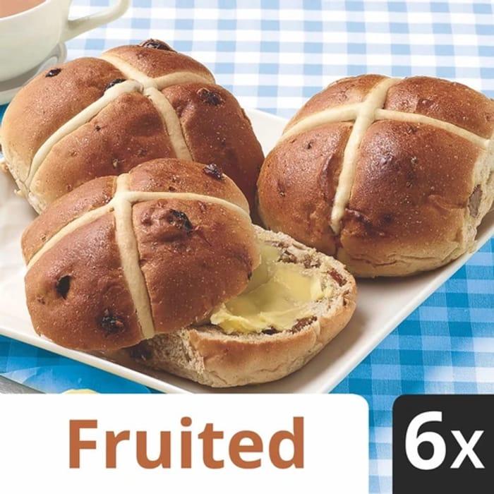 Village Bakery Hot Cross Buns X6