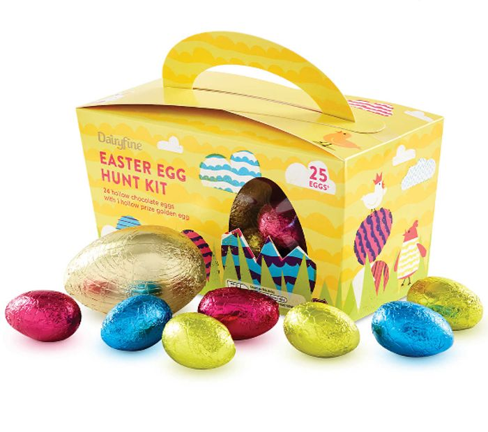 Dairyfine Easter Egg Hunt Kit with 25 Milk Chocolate Eggs - Now £1.49!