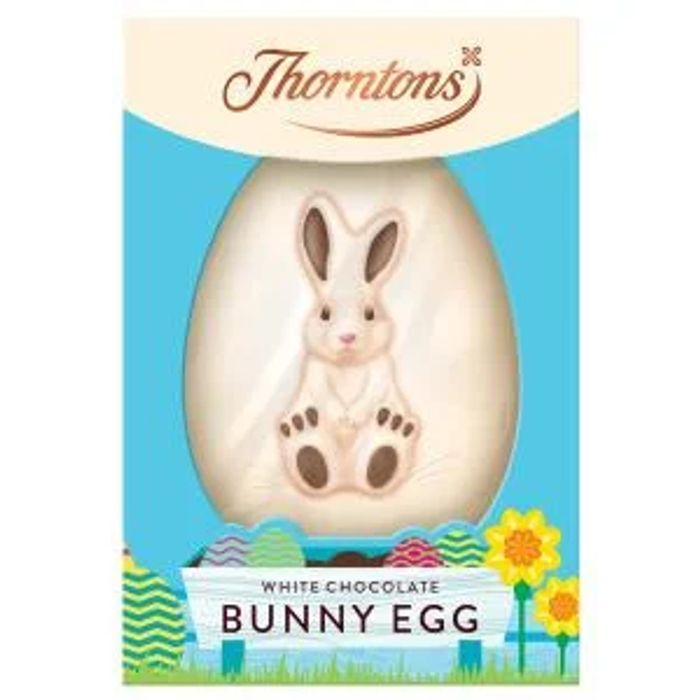 2 Thornton's White Chocolate Bunny Easter Eggs for £2