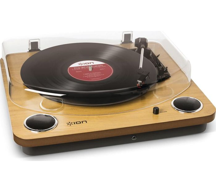 *SAVE over £20* ION Max LP Belt Drive Turntable - Wood