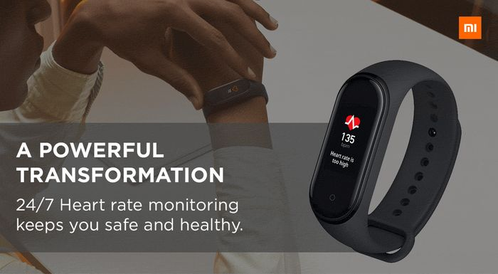 Cheap Xiaomi Mi Smart Band 4 Fitness Tracker & Heart Rate Monitor - Only £24.99!