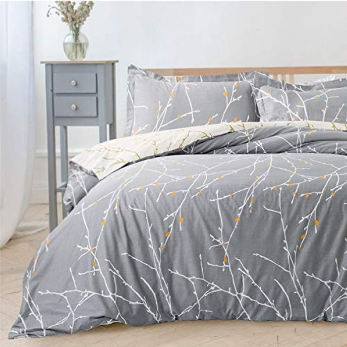 save 45% on Bedsure 3-Pcs Ultra-Soft Printed Duvet Cover Set with 2 Pillowcases
