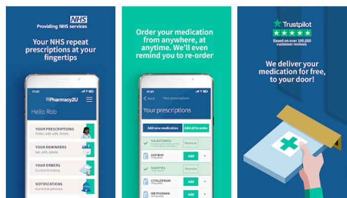 YOUR PRESCRIPTIONS TAKEN CARE OF WITH THE Pharmacy2U NHS PRESCRIPTION APP