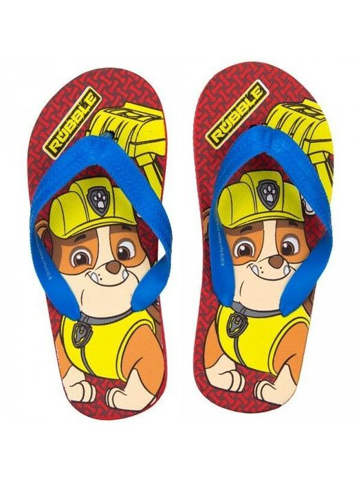 Toddlers Boys Official Paw Patrol Rubble Flip Flops