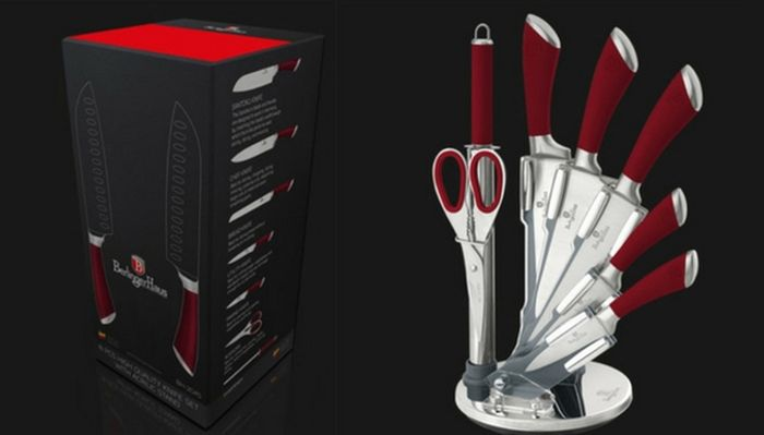 Cheap 8-Piece Berlinger Haus Knife Set with Stand - Only £21.99!