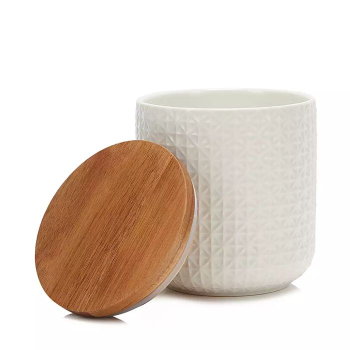 White Textured Ceramic Large Storage Jar