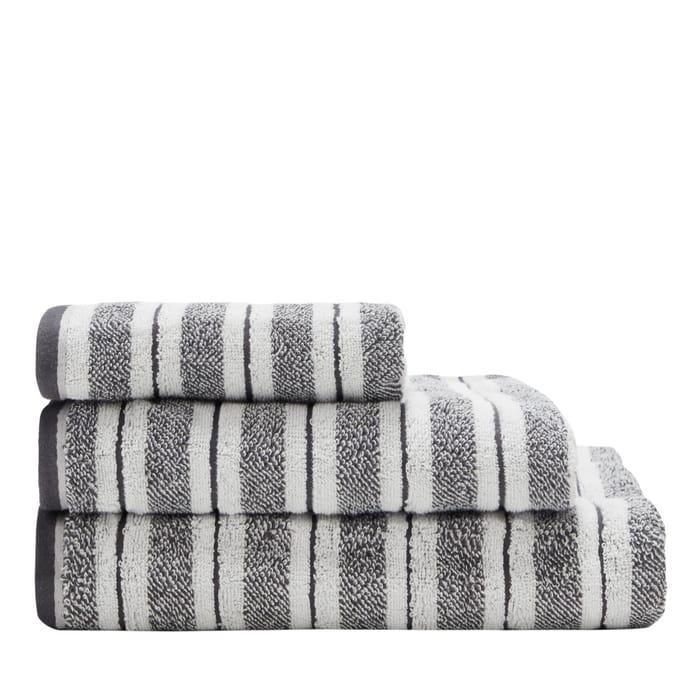 Christy-Grey Striped 'St Ives' Bath Sheet