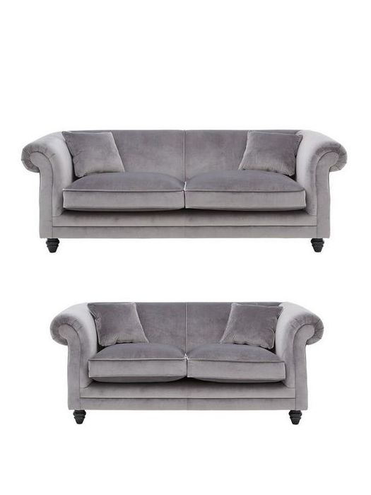Cheap New Grace 3-Seater + 2-Seater Fabric Sofa Set, reduced by £610!