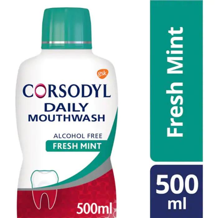 Corsodyl Mouthwash Daily Fresh Mint Alcohol Free 500ml