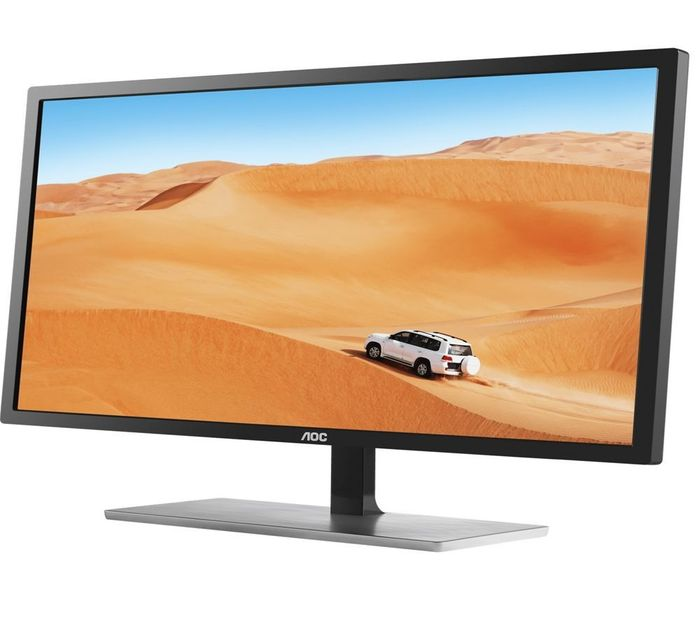 "AOC Q3279VWFD8 Quad HD 31.5"" IPS LCD Monitor - Black & Silver"