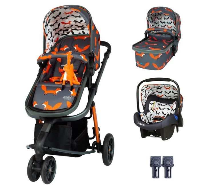 Best Price! Cosatto Giggle 3 Travel System Bundle Charcoal Mister Fox