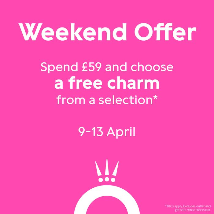 Pandora - Get a FREE Charm When You Spend £59!! Includes Disney Mickey & Minnie