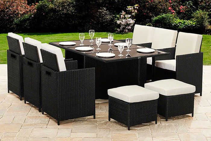 10 Seat Rattan Garden Furniture Set £428.99 Delivered