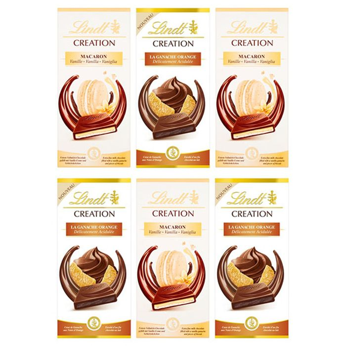 6 X Lindt Creation Chocolate Bars Now £9.00 + Free Delivery at Yankee Bundles