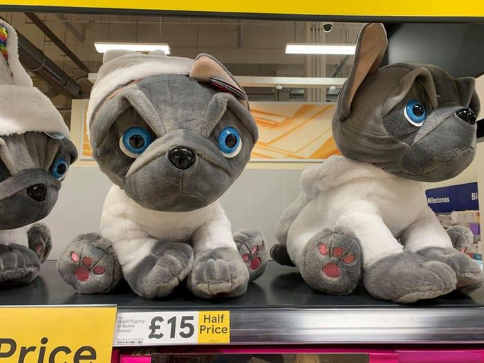 Half Price Giant Pugsley in Bunny Onesie