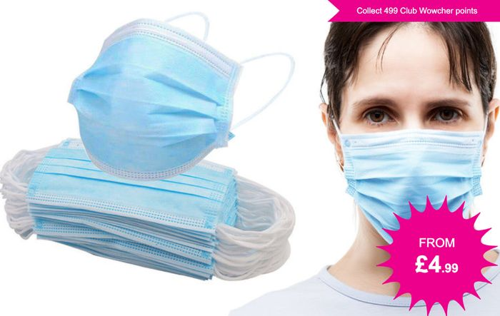 Wowcher Face Masks from £4.99 (+P&P)