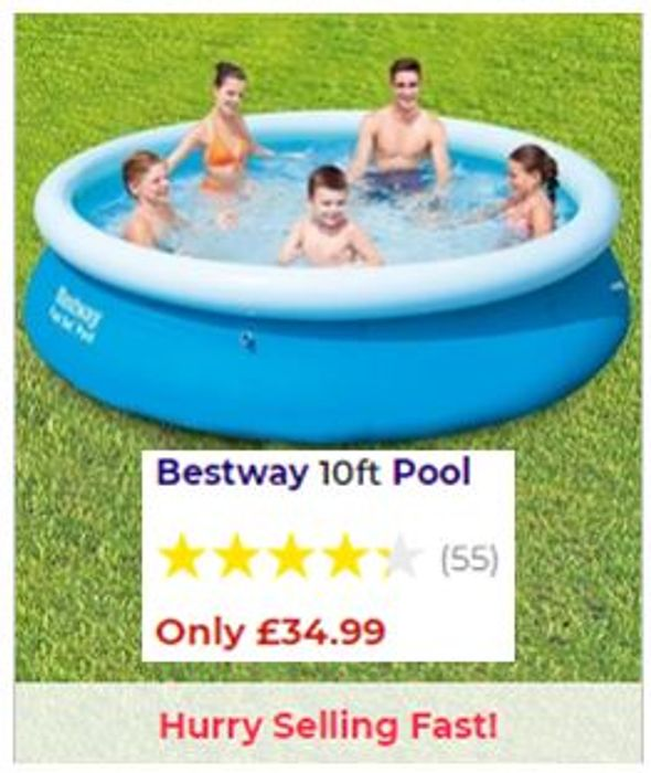 Bestway 10ft Fastset Paddling Swimming Pool - Only £34.99