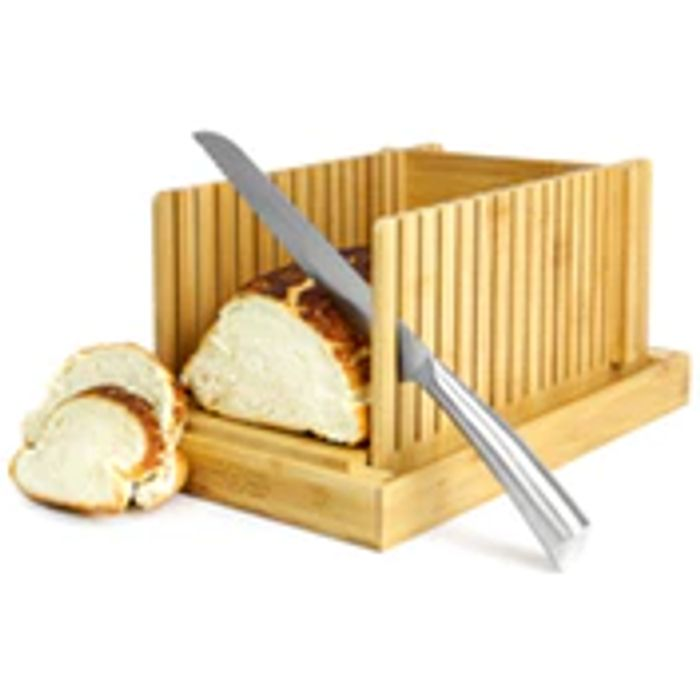 CHEAP! Bamboo Bread Slicer Guide with Crumb Catcher | M&W