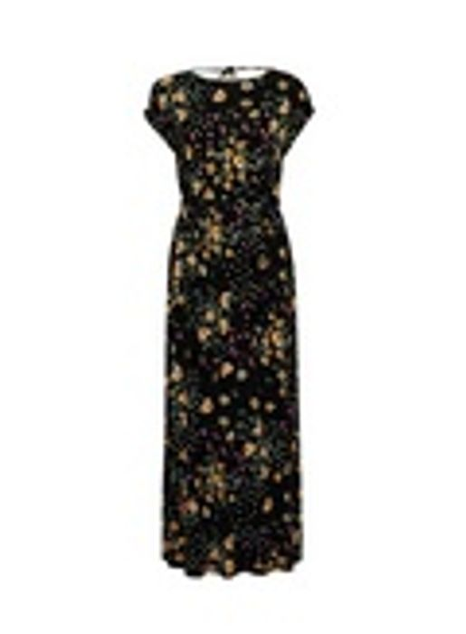 Petite Black Spot and Floral Print