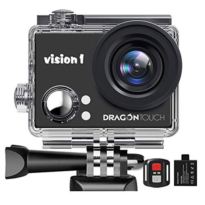 Dragon Touch 1080P Action Camera, Underwater 98ft Video Sports Cam