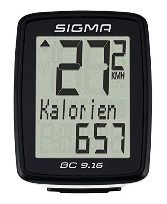 Sigma BC 9.16 - Bicycle Computer, 9 Functions, Black