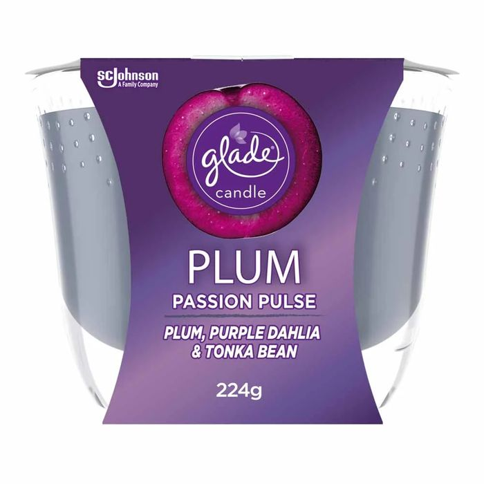 Cheap Glade Candle Plum Passion Pulse 8oz HALF PRICE