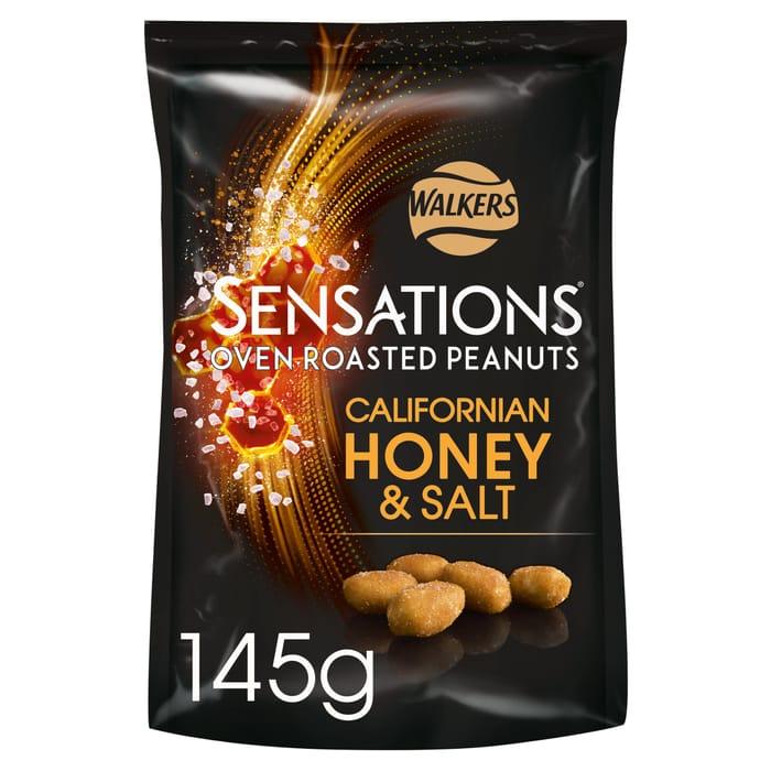 Walkers Sensations Honey & Salt Peanut 145G